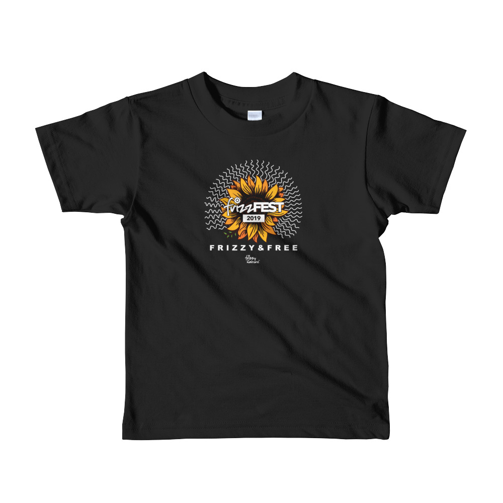 Frizz Fest 2019 (Frizzy & Free) Short Sleeve Kids T-shirt